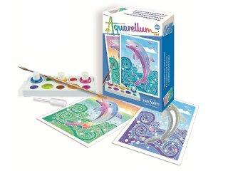Aquarell mini festőkészlet, Delfin (SentoSphére, kreatív festőkészlet, 4-10 év)