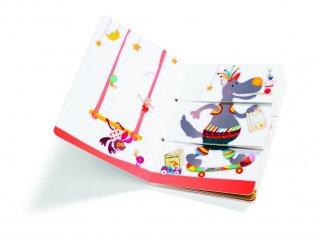 Arlequino lapozgató, A cirkusz (Lilliputiens, 86446, gyerekkönyv, 0-4 év)