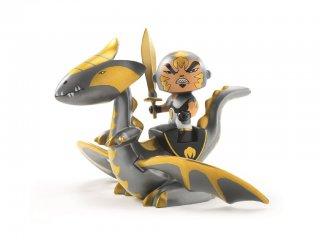 Arty Toys, Chrome & Inferno (Djeco, 6725, lovag figura sárkánnyal, 3-12 év)