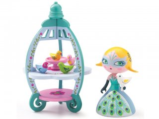 Arty Toys, Colomba & Ze birdhouse (Djeco, 6763, hercegnő figura madárházzal, 3-12 év)