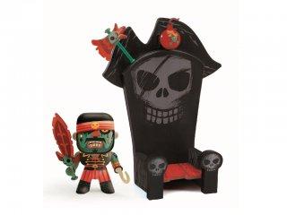Arty Toys, Kyle és a trónja (Djeco, 6813, kalóz figura trónnal, 3-12 év)
