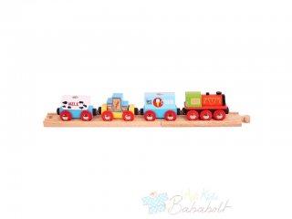 Áruszállító vonat (Bigjigs, vonatos fajáték, 3-10 év)