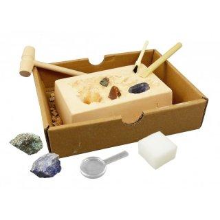 Ásványok és kövek felfedező készlet, Buki tudományos kísérletező játék (8-12 év)