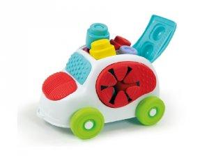 Autós puha építőkocka készlet, bébi fejlesztőjáték (CLEM, 6 hó-3 év)