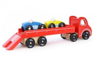 Autószállító kamion, 2 kisautóval (Vilac, 2323, autós fajáték, 0-7 év)