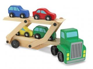 Autószállító kamion (4096, Melissa&Doug, autós fajáték, 1-5 év)