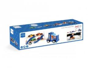Autószállító teherautó, fa szerepjáték (Scratch, 3-6 év)