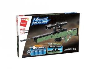 AWM orvlövész puska 10 db szivacs tölténnyel, Lego kompatibilis építőjáték készlet (QMAN, 6008, 6-12 év)
