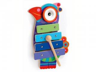 Az első hangszerem, Kikou Coco (Djeco, 6423, papagájos bébi fajáték, 18 hó-3 év)