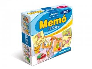 Az első játékaim, Memó Játékok (Granna, képkeresős memóriajáték, 2-4 év)