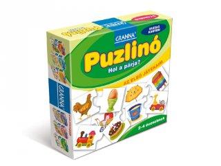 Az első játékaim, Puzzlino Hol a párja? (Granna, párosító játék, 2-4 év)