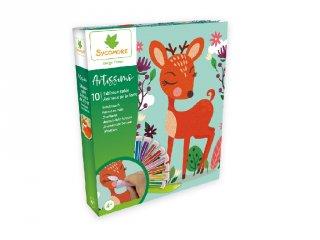 Az erdő állatai, homokkép készítő kreatív szett (Sycomore, 4-10 év)