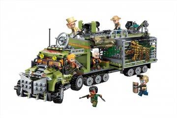 Az orvvadászok szállítója elleni harc, Lego kompatibilis építőjáték készlet (QMAN, 1924, 6-12 év)