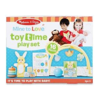 Baba játszószőnyeg játékokkal, 16 db-os Melissa&Doug szerepjáték (41706, 3-6 év)