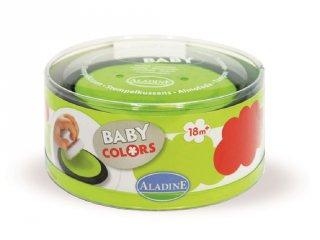 Baba nyomdapárna, piros+zöld (Aladine, A03852, kreatív játék, 1-3 év)