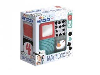 Baby plüss kockák 4 db-os szett, babajáték (17321, CLEM)