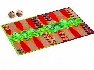 Backgammon (Djeco, 5205, kétszemélyes stratégiai játék, 8-99 év)