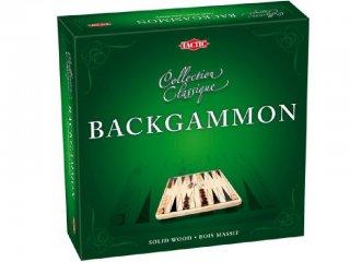 Backgammon, fémdobozban (Tactic, kétszemélyes stratégiai játék, 8-99 év)