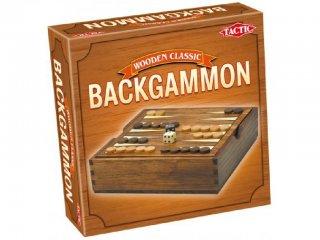 Backgammon (Tactic, kétszemélyes stratégiai fa társasjáték, 8-99 év)