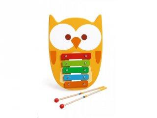 Bagoly alakú xylofon, fa játékhangszer (Scratch, 2-7 év)