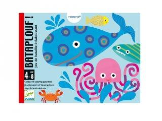 Bataplouf, Djeco vízhatlan kétszemélyes kártyajáték (5156, 4-8 év)