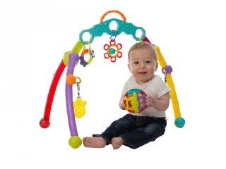 Bébi állvány rágókával és csörgővel, hordozható babajáték (0-1 év)