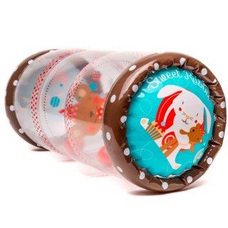 Bébi felfújható játszóhenger, mozgásfejlesztő babajáték (10 hó-2 év)