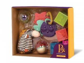 Bébi kezdő játékcsomag (B.Toys, bébijátékok vegyesen, 3 hó-2 év)