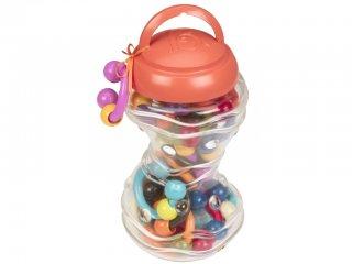 Bébi láncépítő, Nagy, Csörgős kapcsok (B.Toys, bébi építőjáték, 0-3 év)
