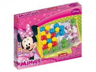 Bébi óriás pötyi, Minnie egér (Quercetti, 4200, 48 db-os kreatív játék, 1-3 év)