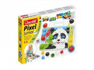 Bébi óriás pötyi, Panda (Quercetti, 4206, 40 db-os kreatív játék, 18 hó-4 év)