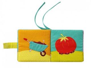 Bébi textilkönyv, Kert (Lilliputiens, bébijáték, 0-3 év)