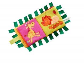 Bébi textilkönyv, Szafari (Lilliputiens, bébijáték, 0-3 év)