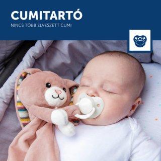 Becky nyuszi szundikendő sírásérzékelő modullal, babajáték (ZA)