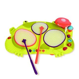 Békadob (B.Toys, többfunkciós hangszer, reflexjáték, 0-5 év)