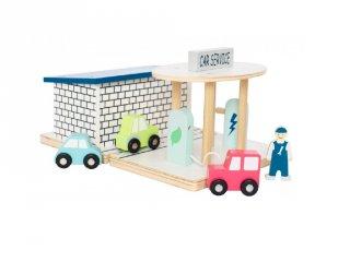 Benzinkút, autós fa szerepjáték (Jabadabado, 3-7 év)