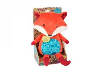 Beszélő plüss bébijáték, Róka (B.Toys, beszédfejlődést segítő játék, 6 hó-4 év)