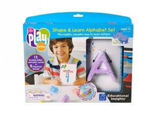 Betűk gyakorlása gyurmával, feladatlapokkal (LR, Playfoam, írástanulást segítő játék, 4-7 év)