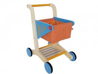 Bevásárlókocsi (Hape, fa bevásárlókocsi boltos szerepjátékhoz, 3-7 év)