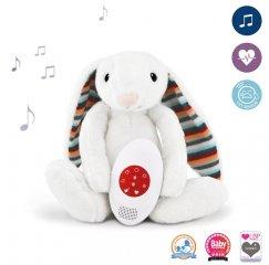 Bibi zenélő, nyugtató plüss nyuszi, babajáték (ZA)