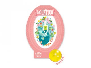 Big Tattoo Aqua blue, Djeco bőrbarát tetováló matrica - 9600