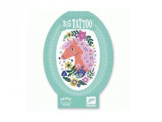 Big Tattoo Poetic horse, Djeco bőrbarát tetováló matrica - 9608