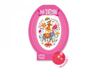 Big Tattoo Rose India, Djeco bőrbarát tetováló matrica - 9602