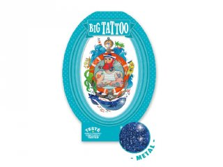 Big Tattoo Sailor, Djeco bőrbarát tetováló matrica - 9607