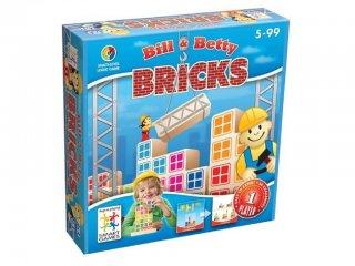 Billy & Betty Építkezés (Smart Games, egyszemélyes logikai építőjáték, 5-10 év)