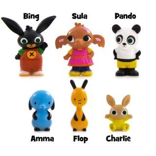 Bing nyuszi és barátai: 6 db-os műanyag figura szett, szerepjáték (1,5-5 év)