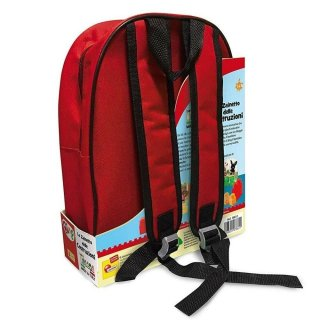 Bing nyuszi és barátai építőkocka szett piros hátizsákban, baba építőjáték (1,5-5 év)