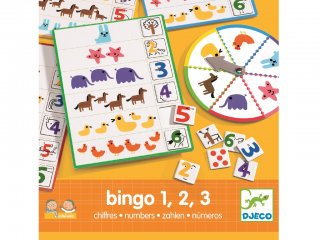 Bingo, Számok (Djeco, 8318, logikai társasjáték, 3-6 év)