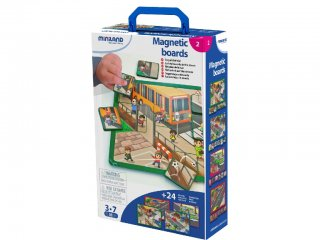 Biztonság az utcán (Miniland, 31951, mágneses kresz játék, 2-7 év)