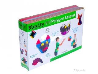 Bloxity 132 db-so Polygon szett tárolóval, kreatív építőjáték (6-12 év)